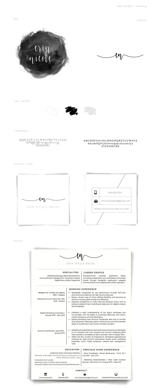 Professional Profile on Behance #branding #brand #identity #resume ...