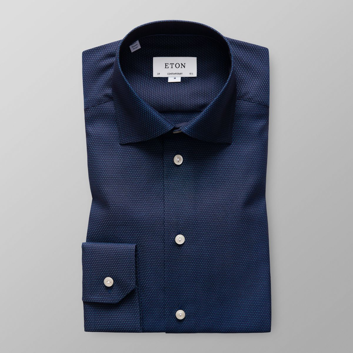 Contemporary fit Navy Striped Shirt Eton