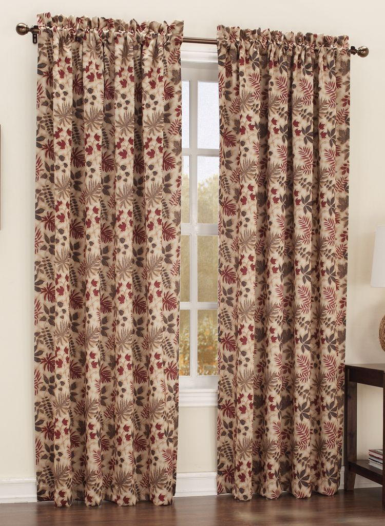 The Woodland Curtains Feature Various Multi Color Leaves Energy Efficient Filters 99 Of