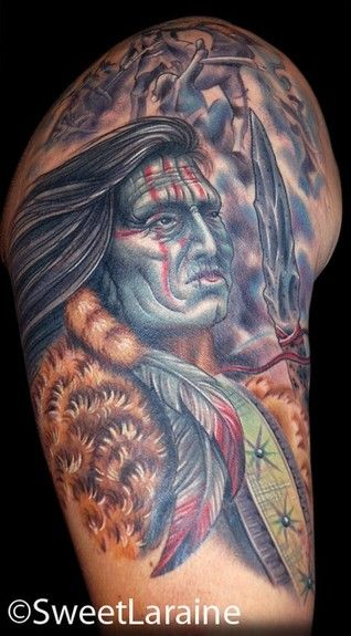 native american arm tattoos for men | Native American ...