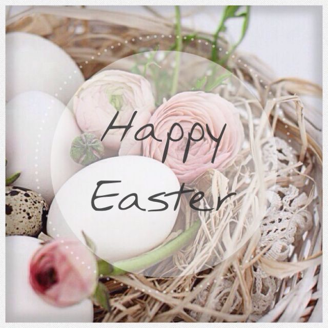 Happy Easter Print Rustic Shabby Beautiful
