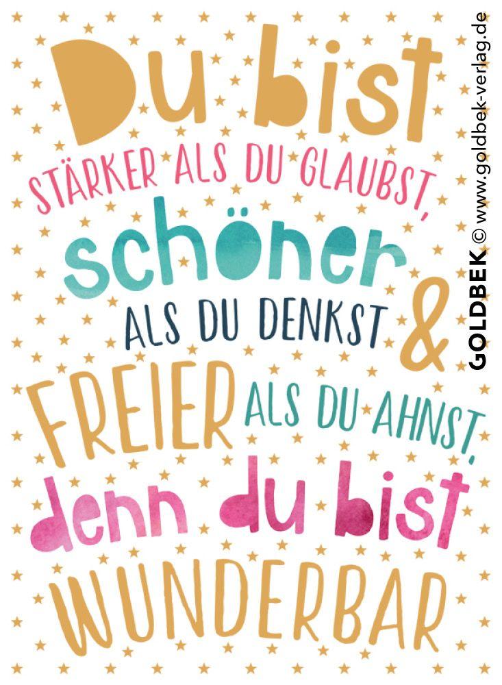 Postkarten Typografie Ein Wirklich Schon Spruch Der Mut Machen