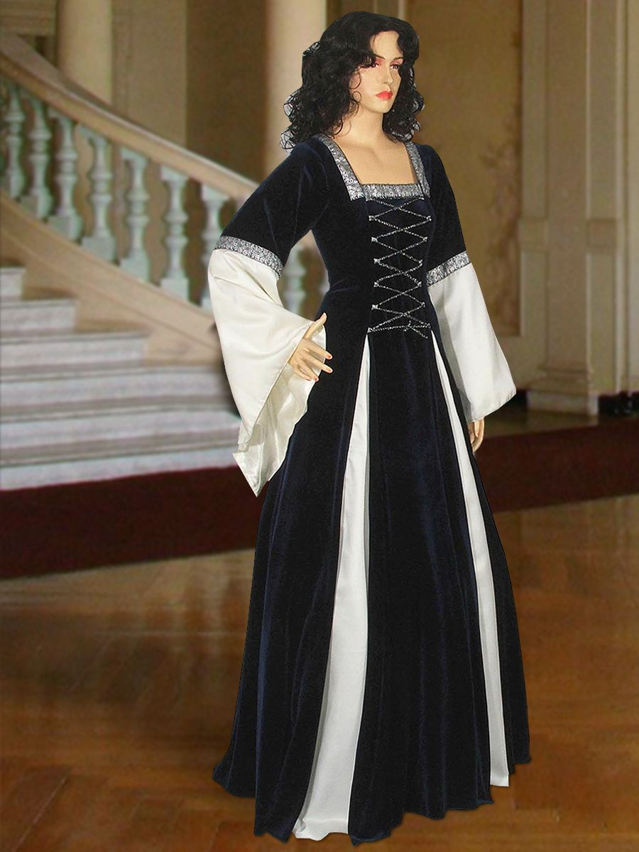 Gothic style wedding dresses  Gothic Style Gown Lady of ucEssexud No  DarkblueWhite   USD