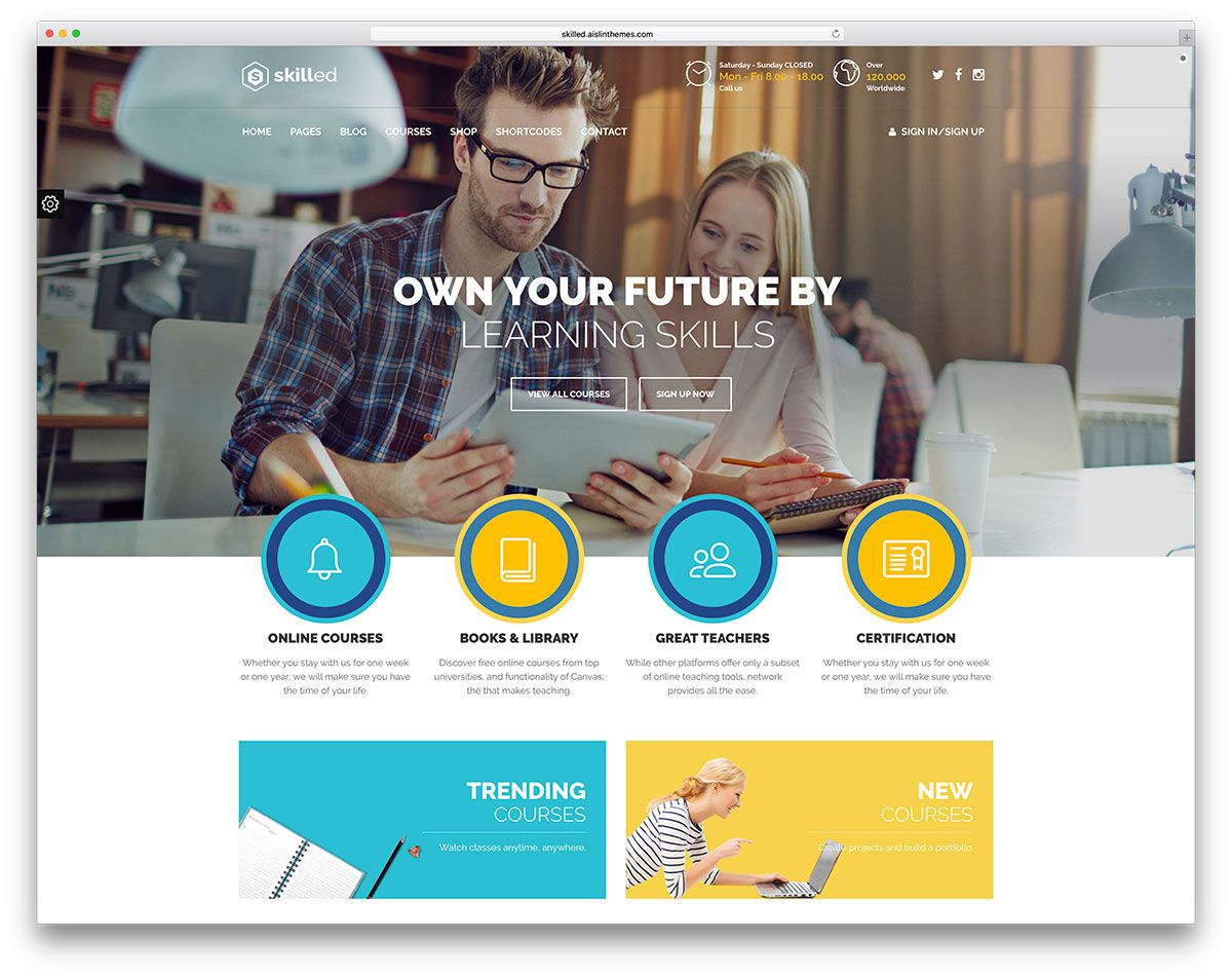 [ Awesome Responsive Wordpress Education Themes Colorlib Skilled Creative  Online Course Website Template ]   Best Free Home Design Idea U0026 Inspiration