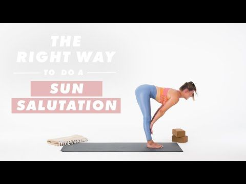 wondering how to do a sun salutation to warm up your body