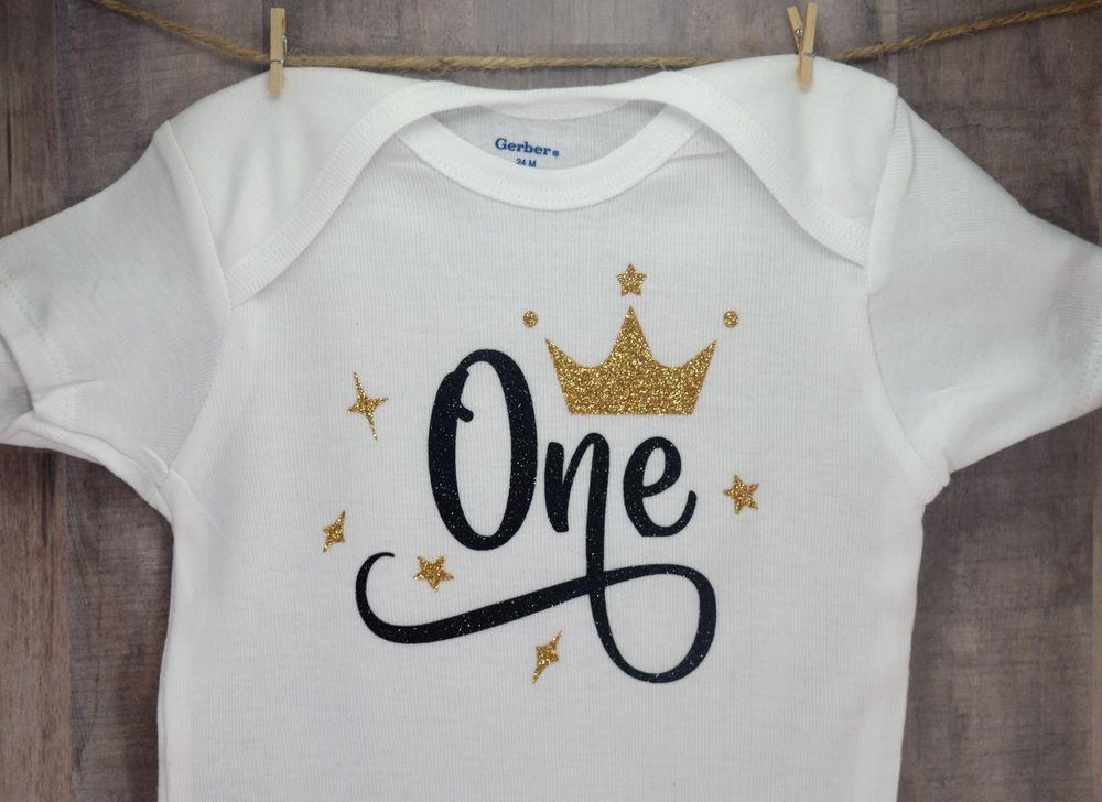 First birthday one year old onesie infant toddler bodysuit
