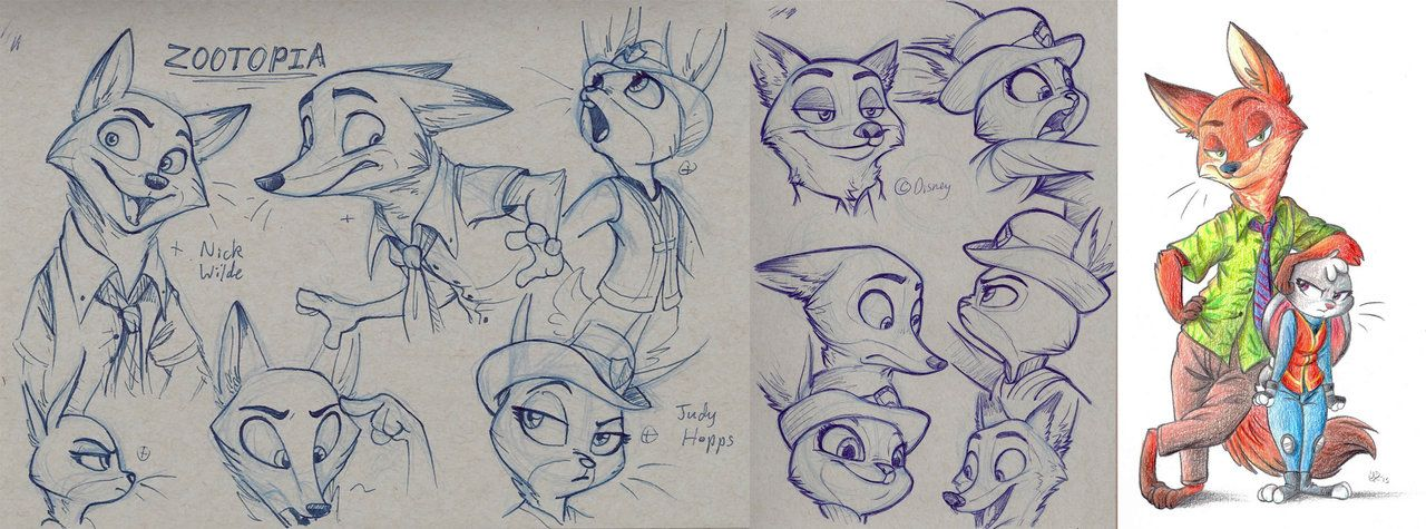 Character Design Zootopia : I saw the trailer for disney s zootopia earlier this week