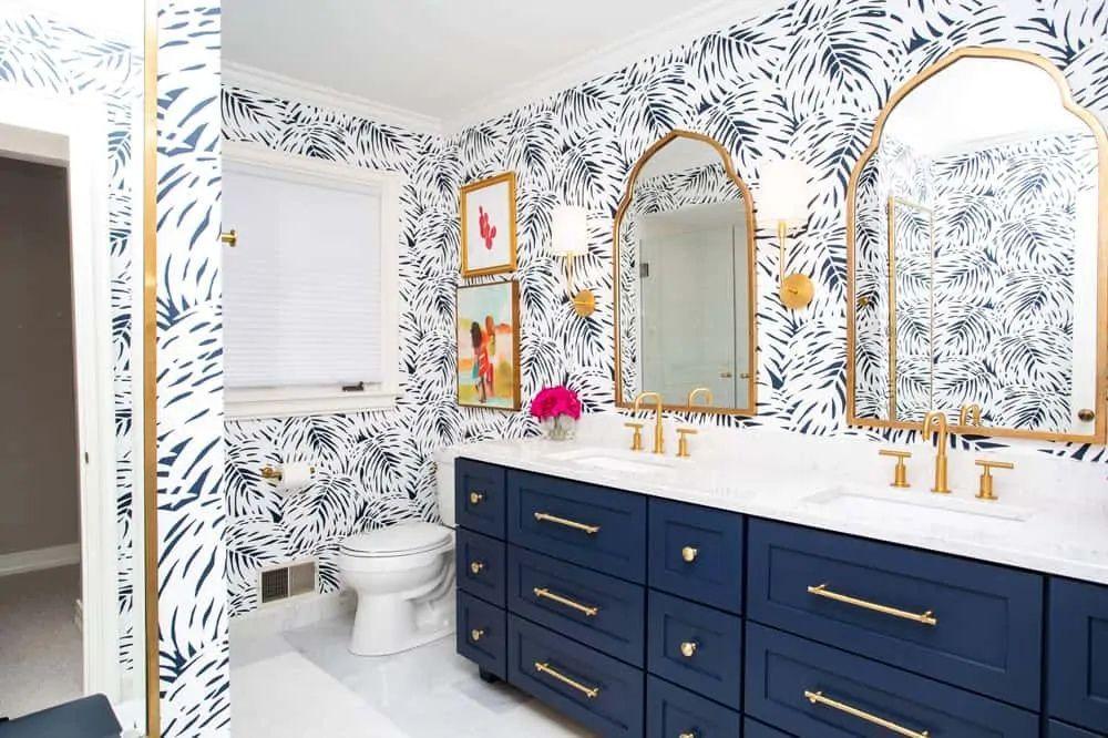 Can I Use Normal Wallpaper In A Bathroom Answered Decor Snob Bathroom Interior Design Interior Renovation Interior Remodel