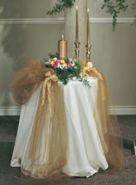 Wedding decorations with tulle & lights | ehow, Tulle, a sheer netting, is an iconic fabric when it comes to creating wedding gowns and decorating the venues for weddings and receptions. Description from weddingdecorateideas.com. I searched for this on bing.com/images