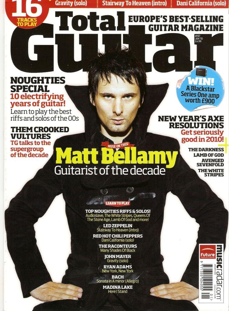 TIL Matthew Bellamy, lead singer/guitarist of Muse, holds ...