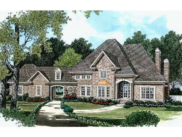 Country Style House Plan 4 Beds 3 5 Baths 3796 Sq Ft Plan 453 179 Country Style House Plans French Country House Plans House Plans