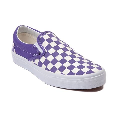 bb3ae87349 Shop for Vans Slip On Chex Skate Shoe in Purple White at Journeys Shoes.  Shop