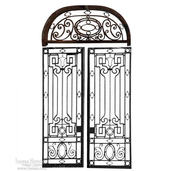 Architectural Antiques | Antique Iron Door | Pair Iron Doors With Transom |  www.inessa - Architectural Antiques Antique Iron Door Pair Iron Doors With