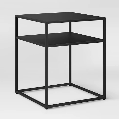 Glasgow Metal End Table Black Project 62 Metal End Tables Black End Tables Bedside Table Metal