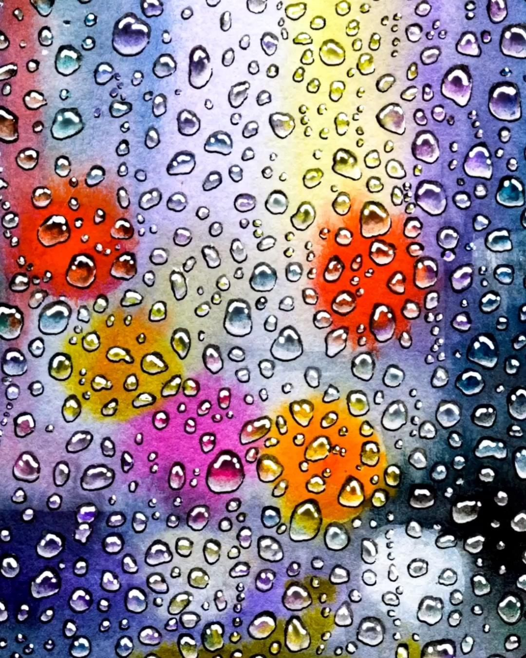 A guide for painting raindrops or water droplets. This is the same technique I used to paint my