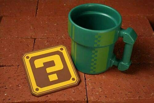 Mario coffee cup and coaster