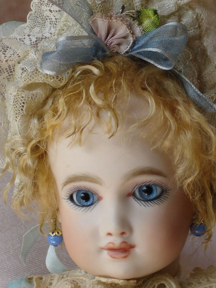 AT reproduction, mohair wig antique lace and ribbonwork costume, all made by artist