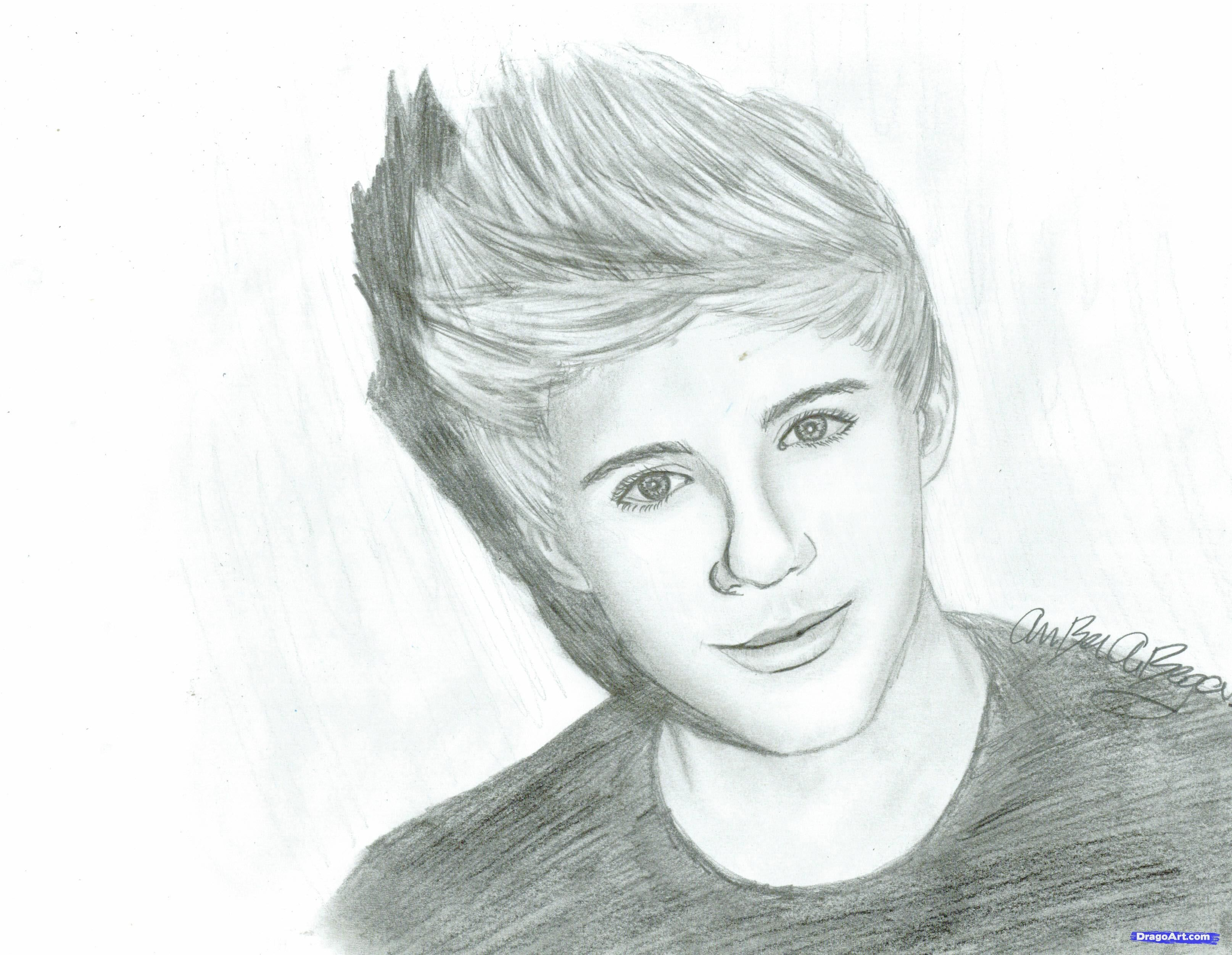 character drawings of famous people how to draw niall horan of one direction step 9