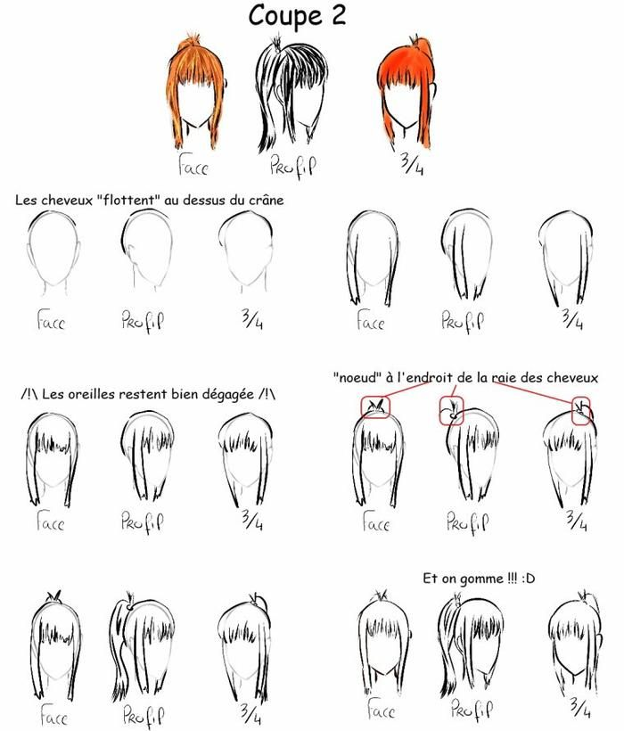 tutoriel dessin n 9 les diff rents coupes de cheveux femme pinterest character design. Black Bedroom Furniture Sets. Home Design Ideas