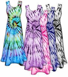 sale! colorful swirl tie dye poly cotton print plus size princess