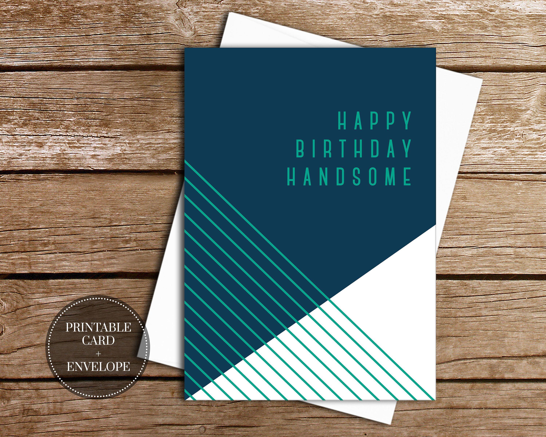 PRINTABLE Birthday Card INSTANT DOWNLOAD Digital Greeting