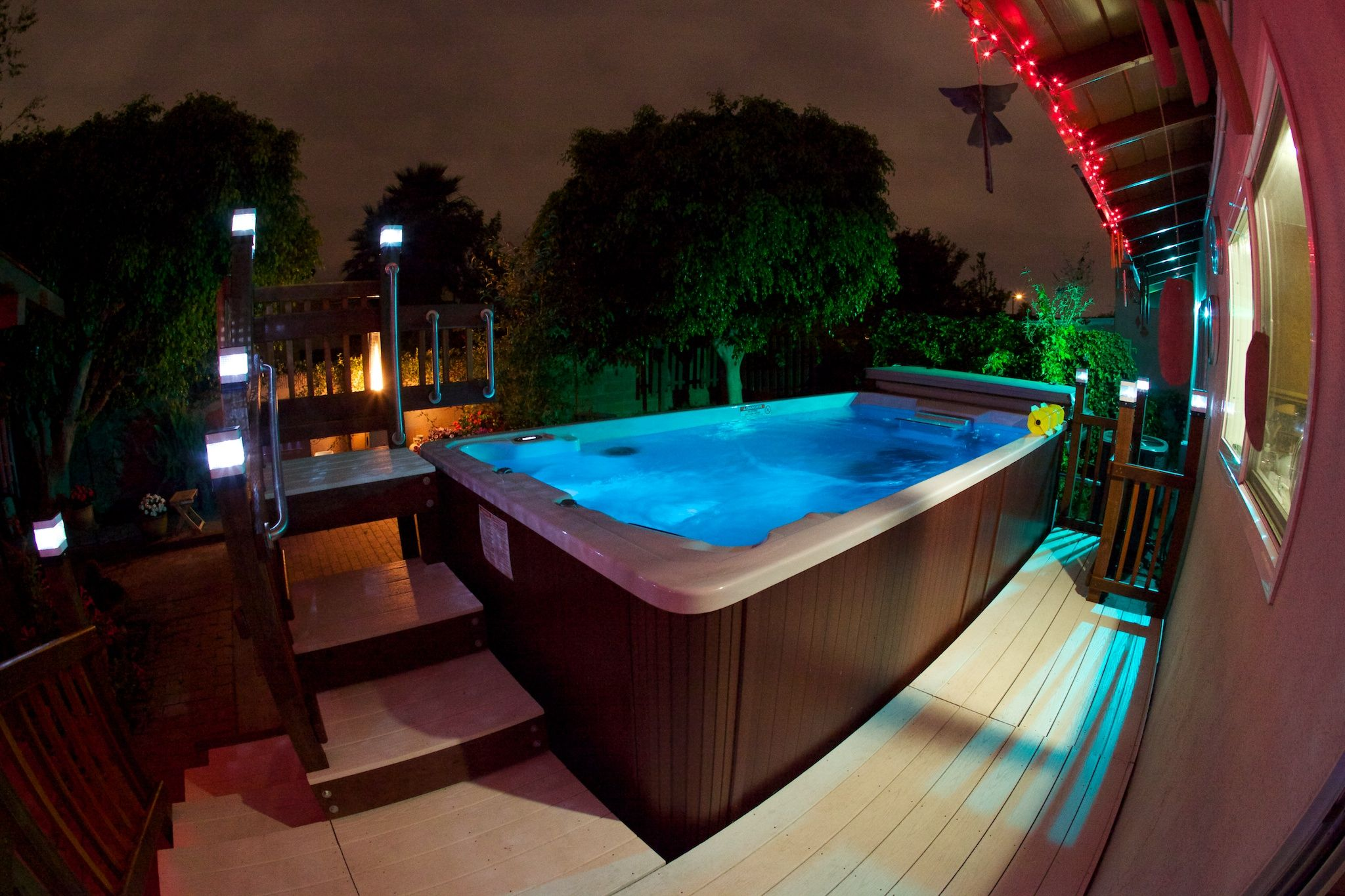 The Only Thing Missing From This Endless Pool Swim Spa Photo Is You Try Our Swim Spa