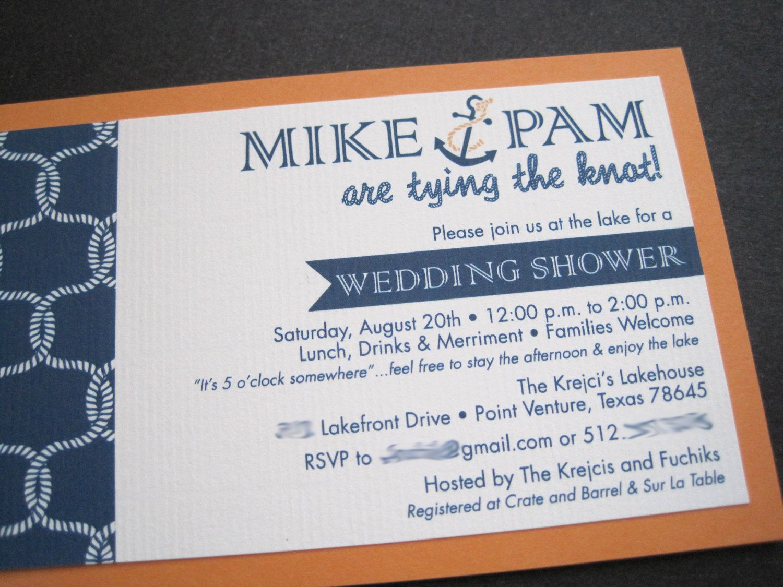 Nautical Wedding Shower InvitationPrintable 1500 via Etsy