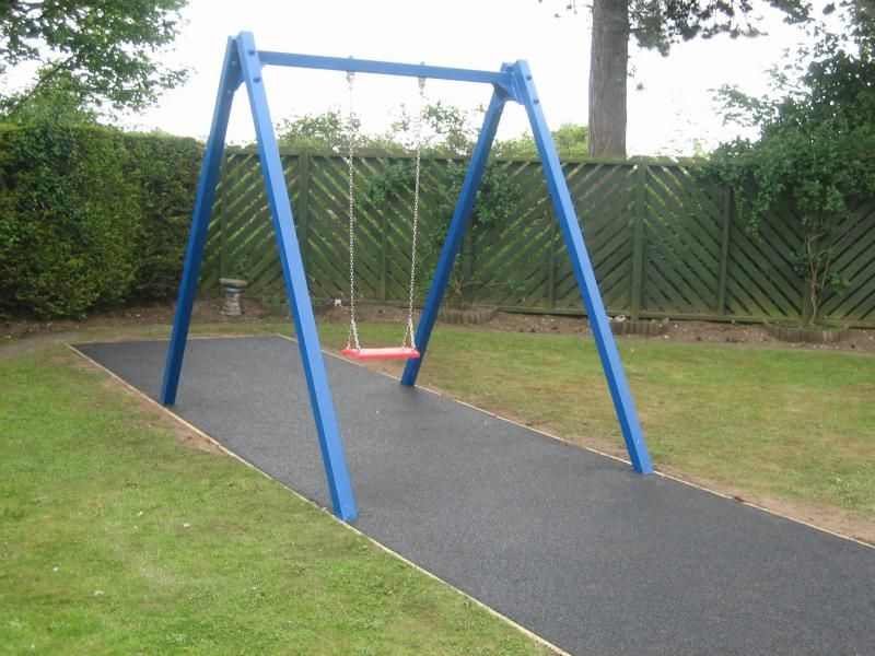 full metal frame standard swing available as a single or double swing - Metal Swing Frame