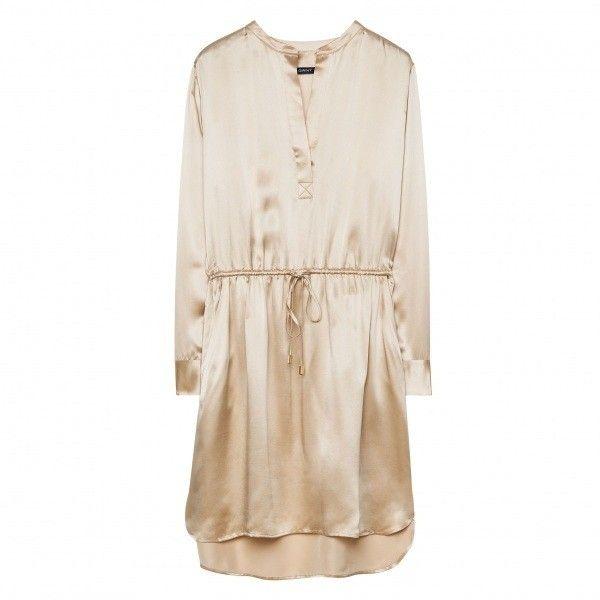 GANT Silk Satin Dress (345 PAB) ❤ liked on Polyvore featuring dresses, white cocktail dresses, gant, silk satin dress and white dress