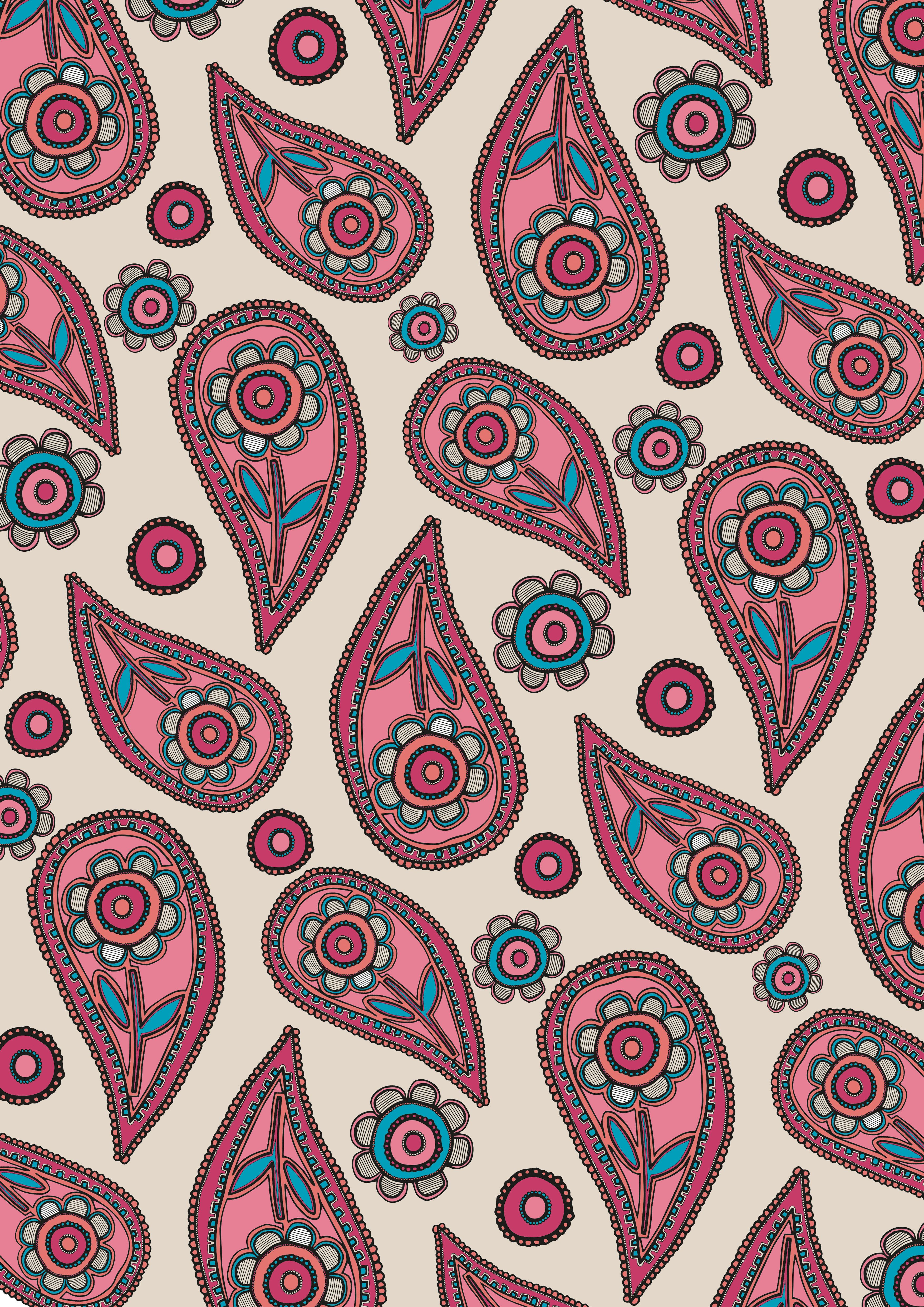 Paisley Floral Art Print By Eve Hearsum