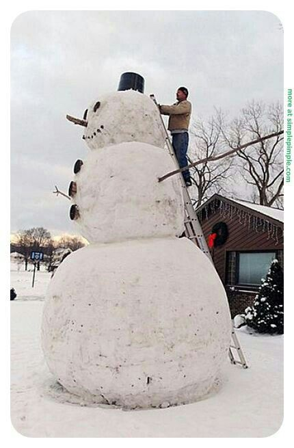 Image result for building a giant snow man