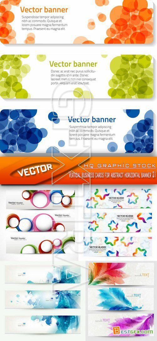 Stock Vector - Vertical business cards for abstract horizontal ...