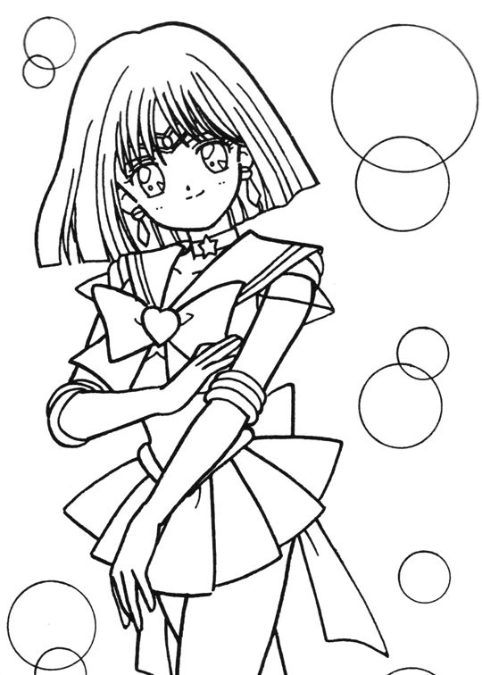 sailor moon coloring pages saturn - photo#23