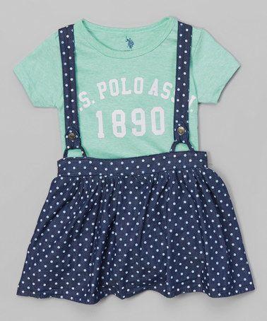 Love this Blue Logo Tee & Polka Dot Jumper - Infant & Toddler by U.S. Polo Assn. on #zulily! #zulilyfinds