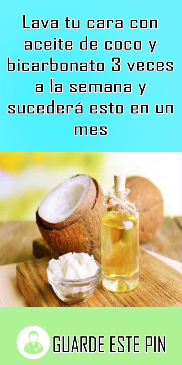 Lava Tu Cara Con Aceite De Coco Y Bicarbonato 3 Veces A La Semana Y Sucederá Esto En Un Mes Aceite De Coco Aceite De Coco Natural Aceite De Coco Cara