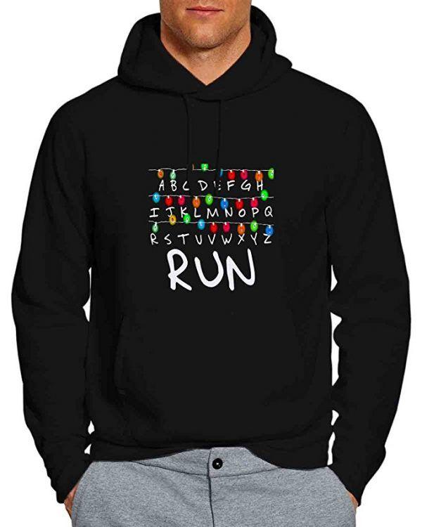 18930533b8db Stranger things hoodie: Light Bulb alphabet & run! | Stranger Things ...
