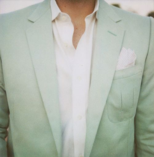 Mint green sportcoat - note to self a'tumbling