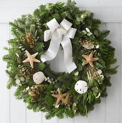 Is Chilis Open On Christmas.Christmas Wreaths With Seashells Wreath With Chilis Via