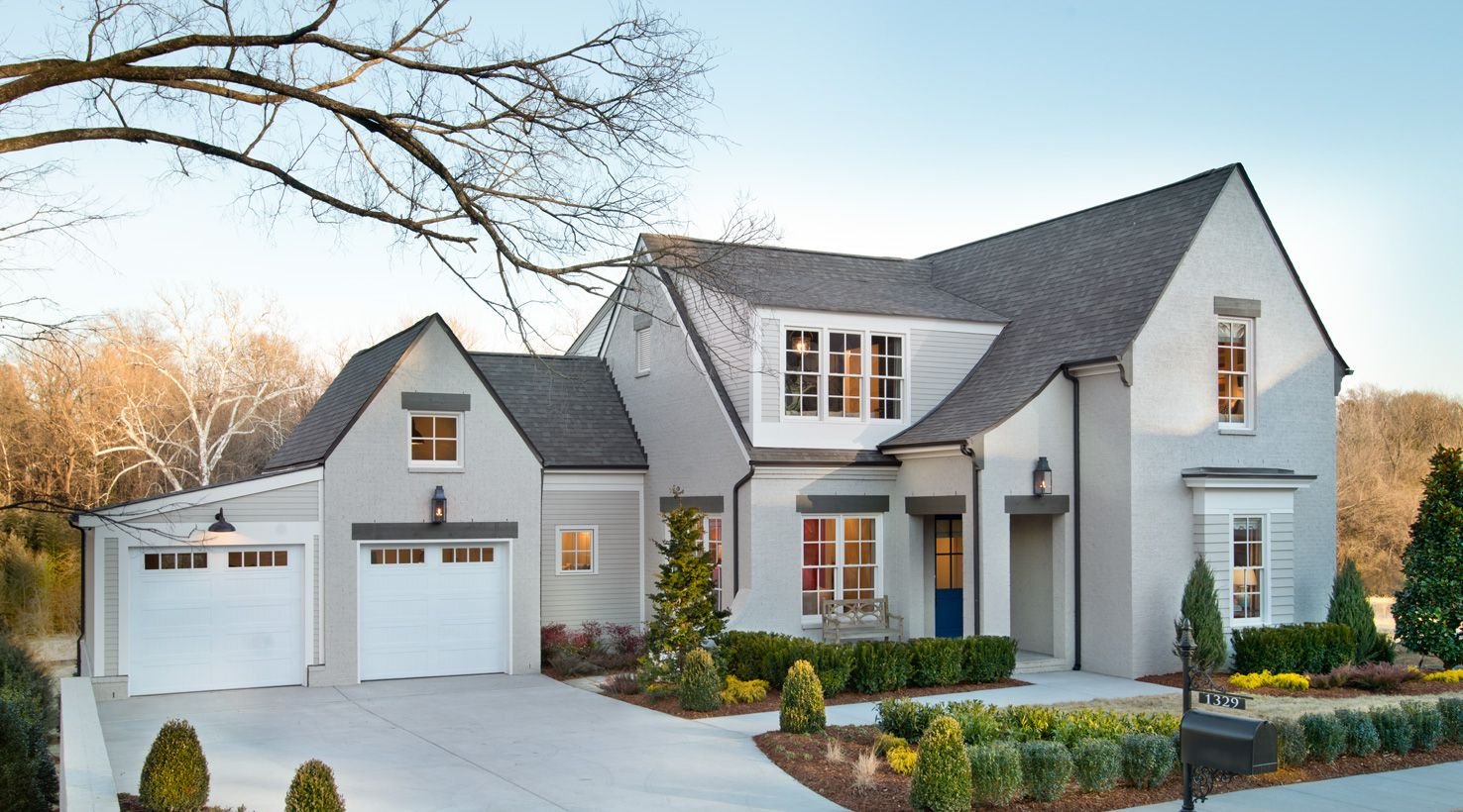 Amazing Grey Paint Hgtv Smart Home 2014 Front Exterior Shoji White Sw 7042