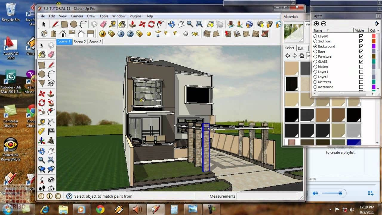 Google Sketchup Tutorial 11 Vray Exterior Animation English