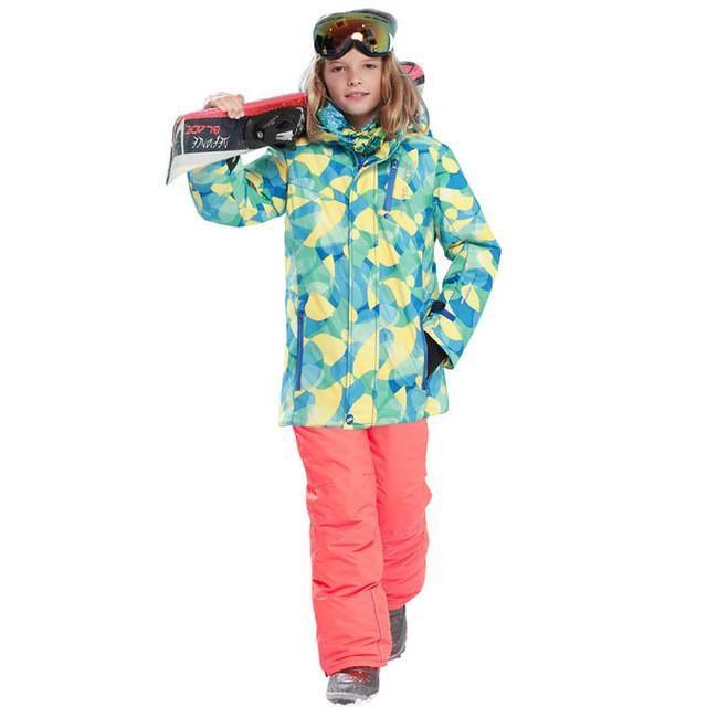 e36c485a6ba3 kids clothes winter ski suit windproof 5000ski jackets+pant kids ...