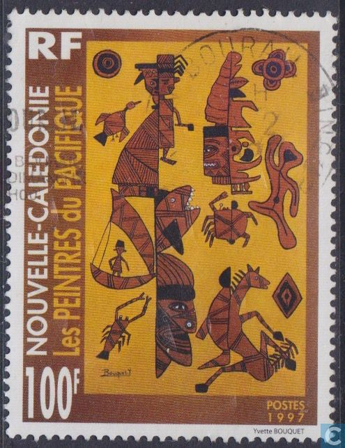 Postage Stamps - New Caledonia - Pacific Arts