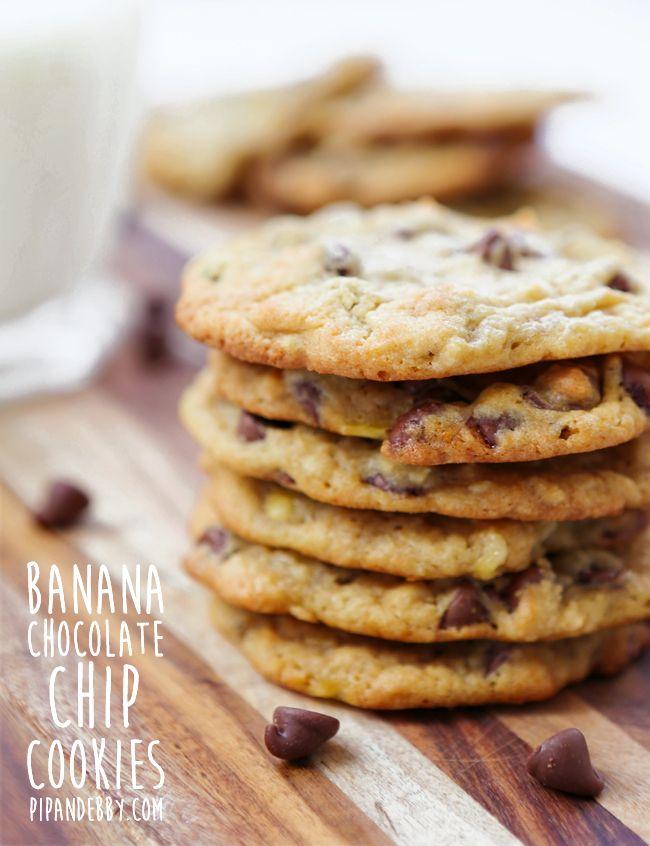 Best 25+ Banana chocolate chip cookies ideas on Pinterest ...
