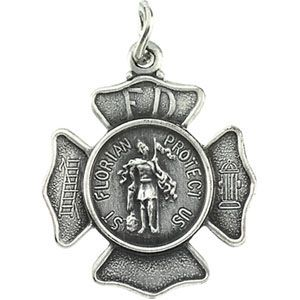 49f8ba79560 St. Florian is the patron saint of firefighters. Dimensions: 25mm diameter.  This item is the size of a quarter. Weighs 10.42 grams.