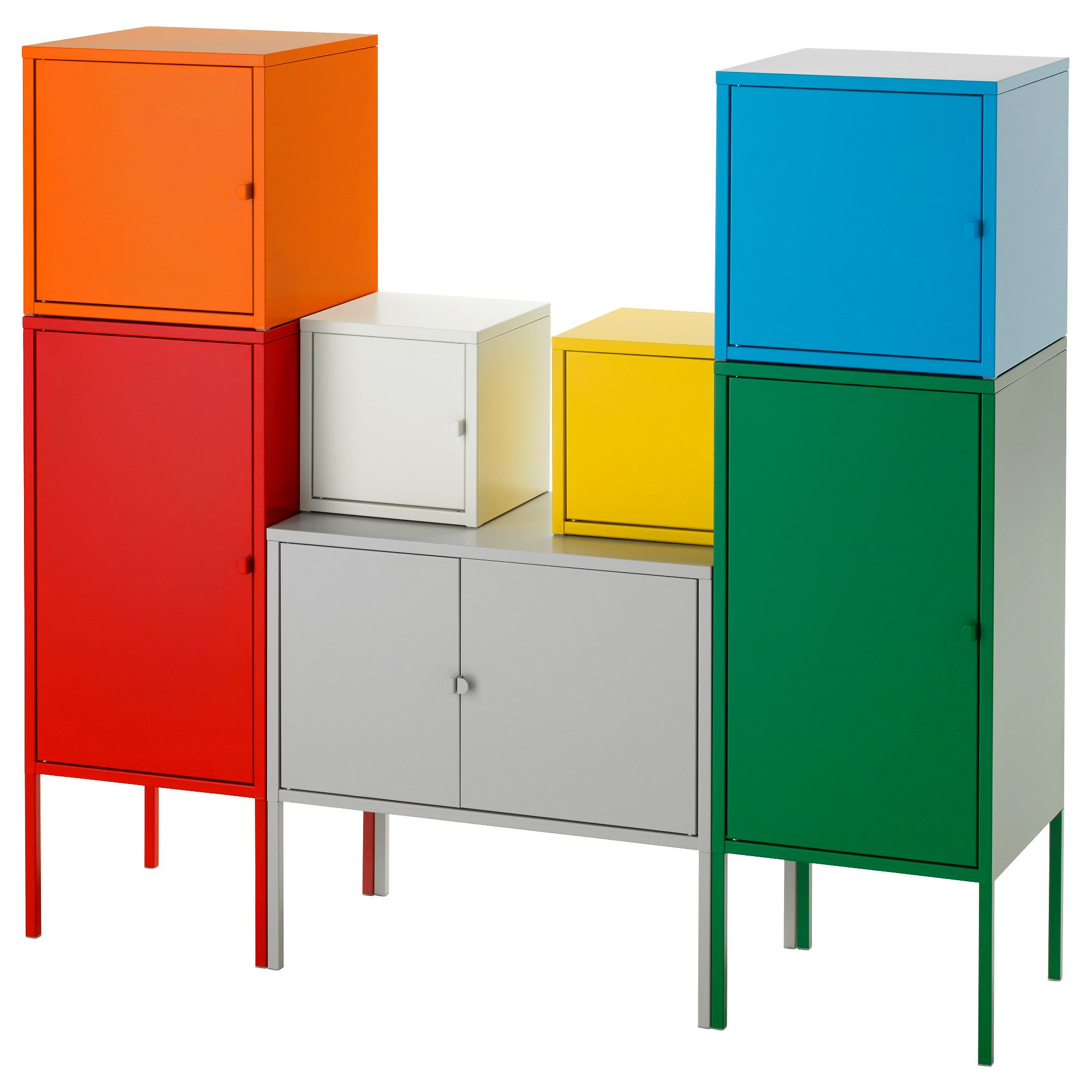 Ikea Lixhult Storage Combination A Colorful And Complete