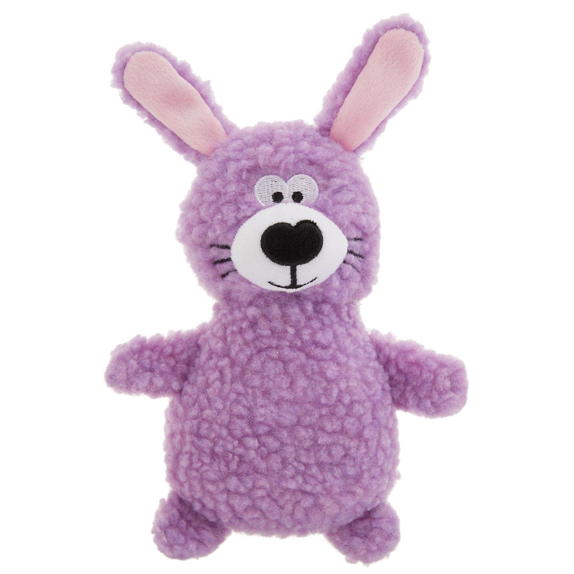 Top Paw Bunny Dog Toy Plush Squeaker Purple Dog Toys Bunny