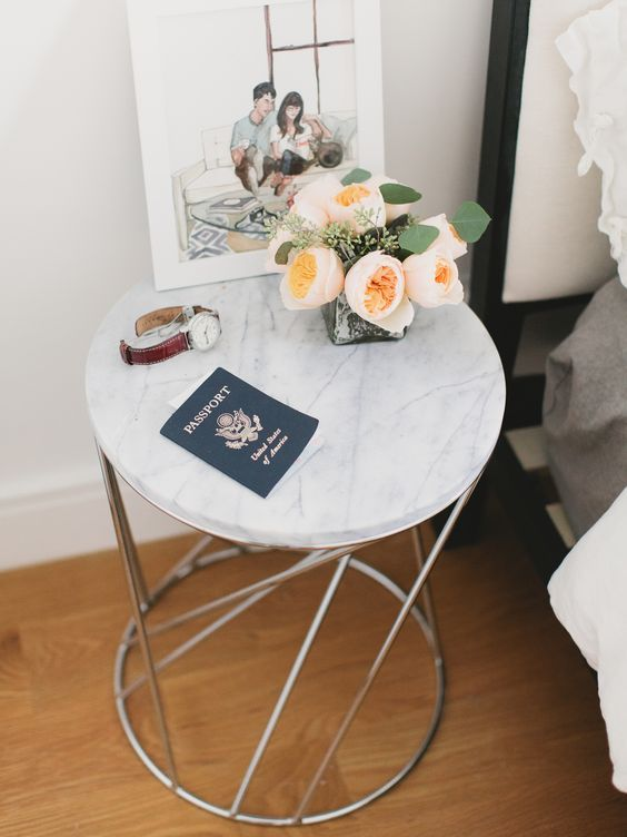 16 perfect white marble side tables we