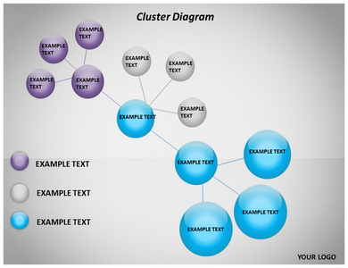 Cluster Diagram Powerpoint Template Powerpoint Templates Templates Diagram