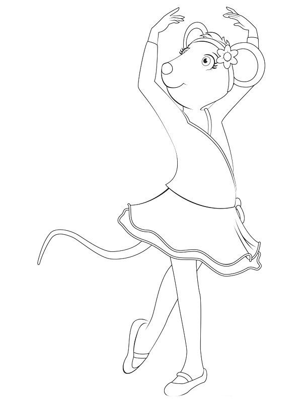Angelina Ballerina Coloring Pages 23 Cards and invitations