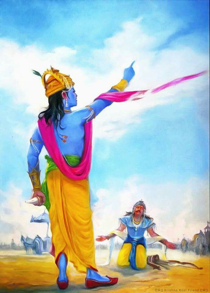 On Towards Sky The … Krishna Krishna Every Surrender Knees Of Go His Their One Total In Raises Enemies Down When Mode Including Hand Shree